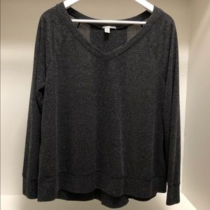 Halogen Long Sleeve Knit Top with Zipper Detail